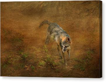 Dappled Light Canvas Print - The Huntress by Carla Parris