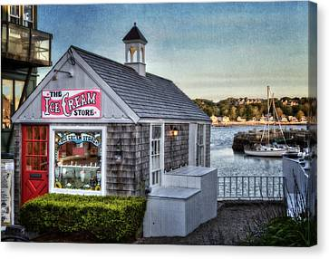 The Ice Cream Store Canvas Print by Susan Candelario