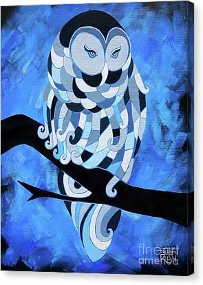The Ice Owl Canvas Print