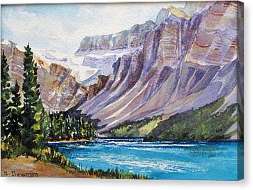 Along-the-icefield-parkway Canvas Print by Nancy Newman