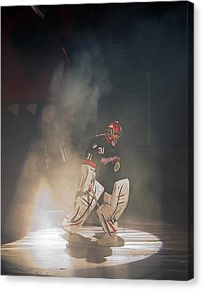 Canvas Print featuring the photograph The Iceman Cometh by Ron Dubin