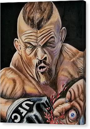 The Iceman Knocks Out A Guys Eye. Canvas Print