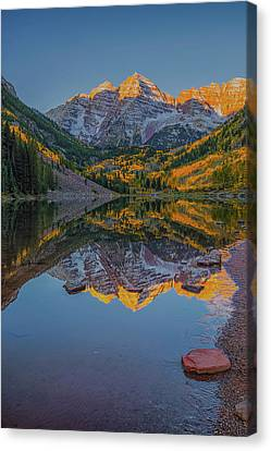 The Iconic Maroon Bells Canvas Print