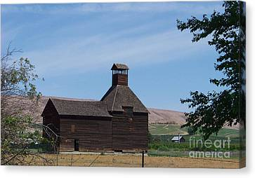 The Iconic Steeple Barn At Donald Canvas Print by Charles Robinson