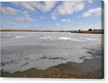 The Icy Lake Canvas Print