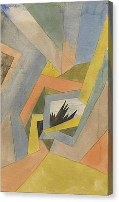 The Idea Of Firs Canvas Print by Paul Klee
