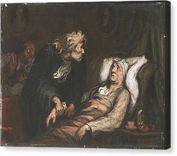 The Imaginary Invalid  Canvas Print by Honore Daumier