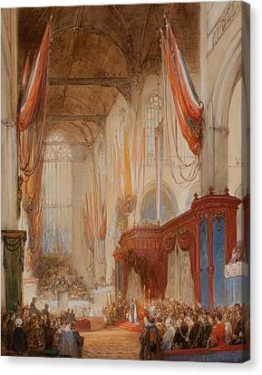 The Inauguration Of King Willem IIi Canvas Print by Johannes Bosboom
