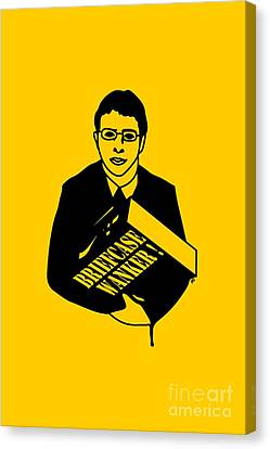 The Inbetweeners Briefcase Wanker Canvas Print by Paul Telling