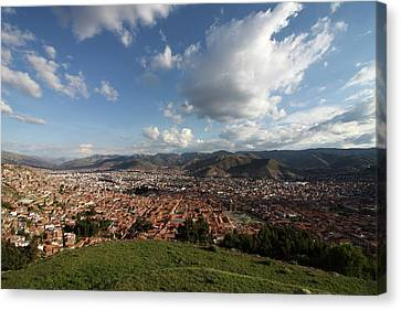 Canvas Print featuring the photograph The Inca Capital Of Cusco by Aidan Moran