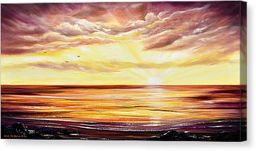 Hawaii Canvas Print - The Incredible Journey - Panoramic Sunset by Gina De Gorna