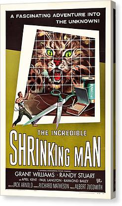 The Incredible Shrinking Man 1957 Canvas Print by Mountain Dreams