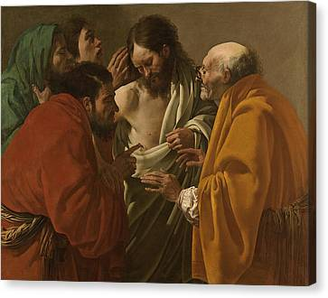 The Incredulity Of Saint Thomas Canvas Print