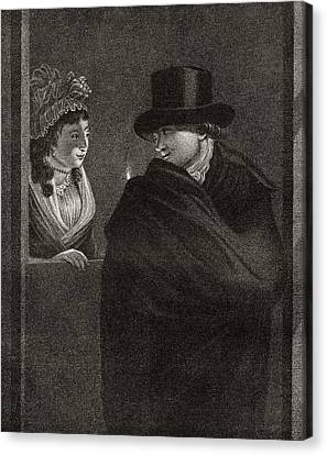 The Indecisive, After An Engraving Canvas Print by Vintage Design Pics