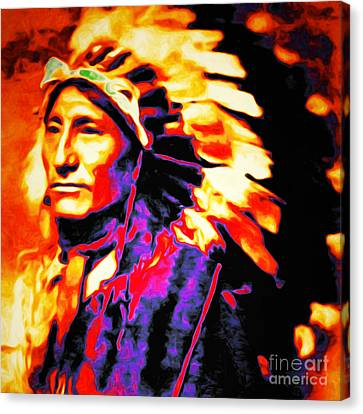 The Indian Chief 20151227 Square Canvas Print by Wingsdomain Art and Photography