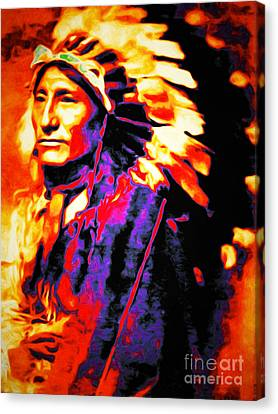 The Indian Chief 20151227 Canvas Print by Wingsdomain Art and Photography