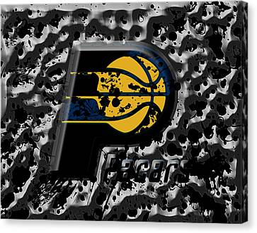 The Indiana Pacers 1a Canvas Print by Brian Reaves