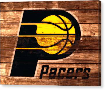 The Indiana Pacers 3a Canvas Print by Brian Reaves