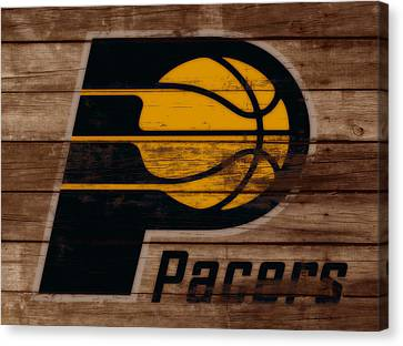 The Indiana Pacers 3b Canvas Print by Brian Reaves