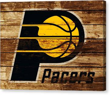 The Indiana Pacers 3c Canvas Print by Brian Reaves