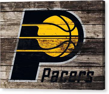 The Indiana Pacers 3e Canvas Print by Brian Reaves
