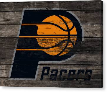 The Indiana Pacers 3f Canvas Print by Brian Reaves