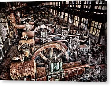 The Industrial Age Canvas Print by Olivier Le Queinec