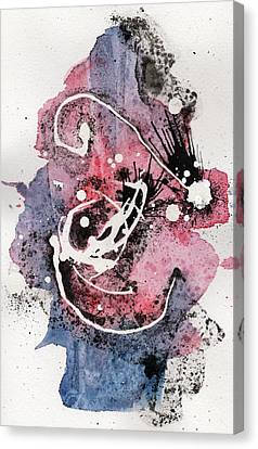 The Inexplicable Ignition Of Time Expanding Into Free Space Phase Two Number 15 Canvas Print by Mark M  Mellon