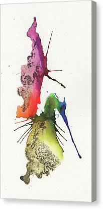 The Inexplicable Ignition Of Time Expanding Into Free Space Phase Two Number 23 Canvas Print by Mark M  Mellon
