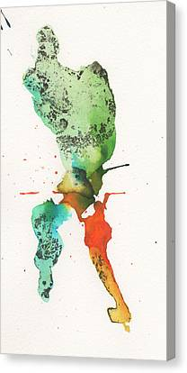The Inexplicable Ignition Of Time Expanding Into Free Space Phase Two Number 24 Canvas Print by Mark M  Mellon