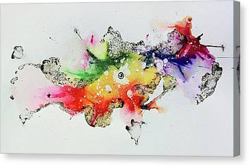 The Inexplicable Ignition Of Time Expanding Into Free Space Phase Two Number 30 Canvas Print