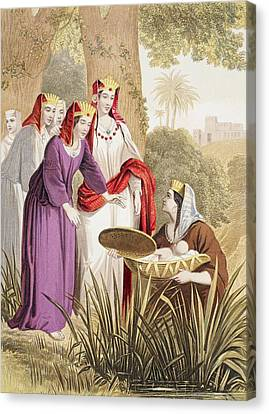 The Infant Moses Is Found In The Canvas Print by Vintage Design Pics
