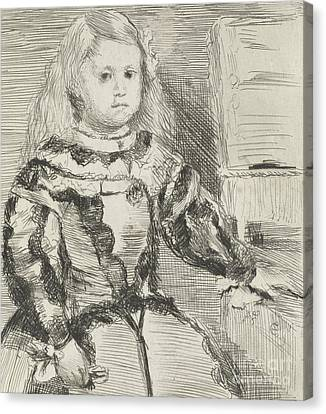 The Infanta Margarita Canvas Print by Edgar Degas