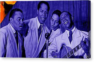 Rhythm And Blues Canvas Print - The Ink Spots Collection by Marvin Blaine