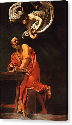 The Inspiration Of Saint Matthew Canvas Print