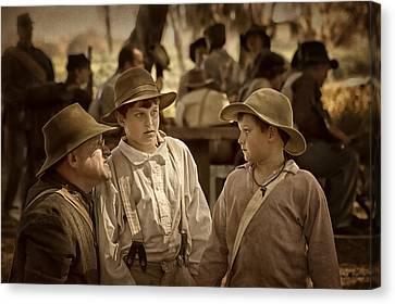 The Instructions - 1 - Civil War Reenactment Canvas Print by Nikolyn McDonald