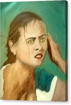 Maria Sharapova Canvas Print - The Intense Girl by Peter Gartner