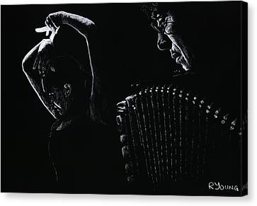 The Intensity Of Flamenco Canvas Print by Richard Young
