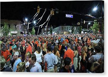 Toomers Oaks Canvas Print - The Intersection Of Magnolia And College by JC Findley