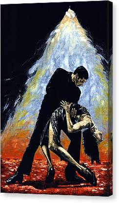 The Intoxication Of Tango Canvas Print by Richard Young