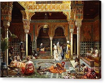 Alhambra Canvas Print - The Introduction After The Bath, 1889 by Filippo Baratti