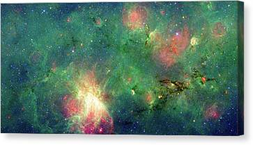 Canvas Print featuring the photograph The Invisible Dragon by NASA JPL-Caltech