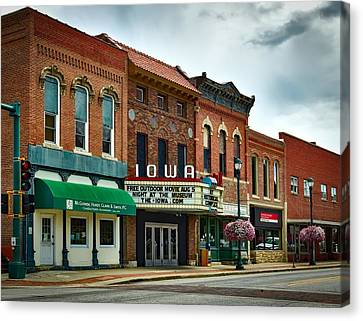 The Iowa Theatre Canvas Print by Mountain Dreams