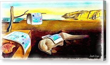 The Iphone Surrealism - Da Canvas Print by Leonardo Digenio