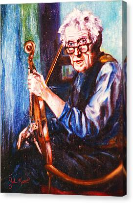 The Irish Violin Maker Canvas Print by John Keaton