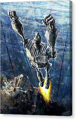 Turin Canvas Print - The Iron Giant by Andrea Gatti
