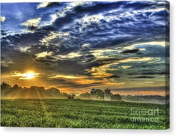 The Iron Horse New Corn Sunrise Canvas Print by Reid Callaway