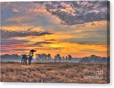 The Iron Horse New Sunrise Canvas Print by Reid Callaway