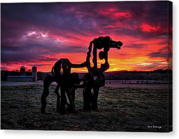 The Horse Canvas Print - The Iron Horse Sun Up Art by Reid Callaway