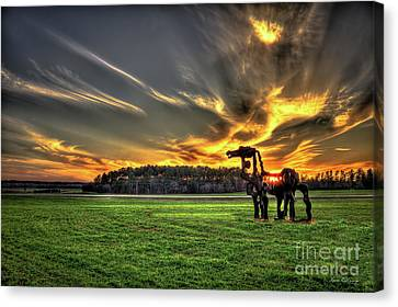 The Iron Horse Sunset Canvas Print by Reid Callaway